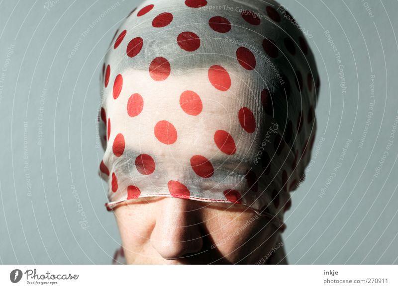 sunny IV elegant Stil schön Erholung ruhig Frau Erwachsene Leben Gesicht Frauengesicht 1 Mensch 30-45 Jahre Tuch Kopftuch Haare & Frisuren schwarzhaarig Punkt