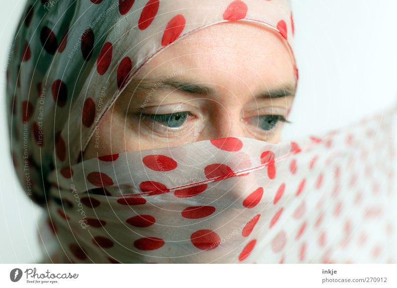 sunny V Mensch Jugendliche schön rot ruhig Gesicht Erwachsene Leben Gefühle Religion & Glaube Stil Stimmung Junge Frau elegant Punkt geheimnisvoll