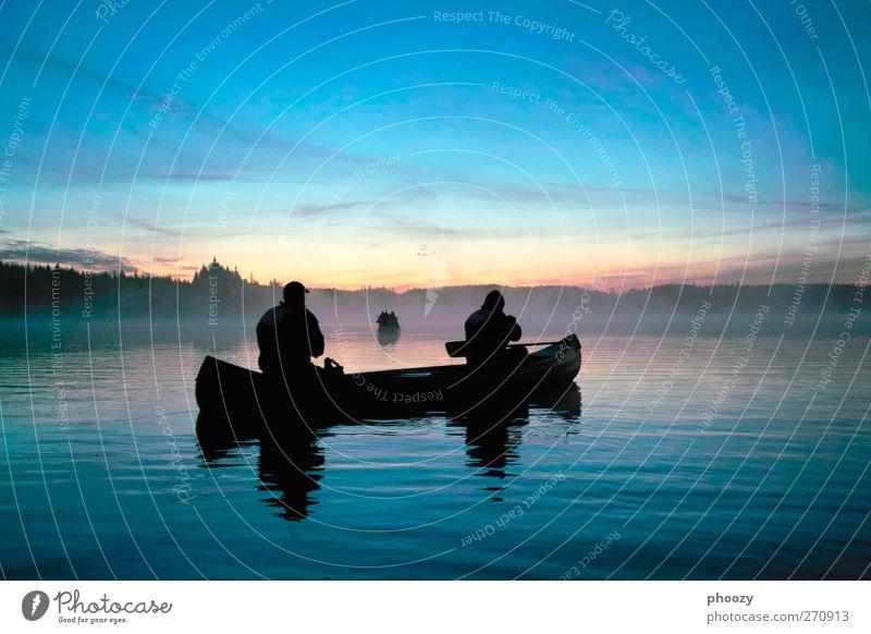 Kanufahrt auf dem Mången, Schweden blau Wasser Ferien & Urlaub & Reisen schön Einsamkeit ruhig Erholung Ferne See Stimmung Zufriedenheit außergewöhnlich