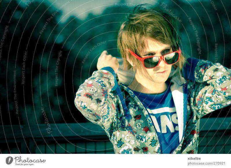 Sunny pack's Lifestyle Stil Design maskulin Junger Mann Jugendliche 1 Mensch 18-30 Jahre Erwachsene Sonnenbrille trendy dünn verrückt Leben Blitz Nerd