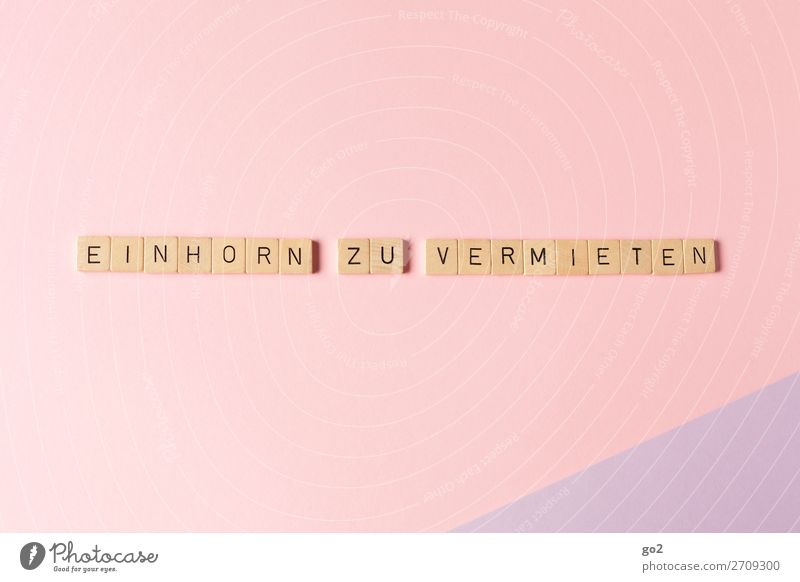 Einhorn zu vermieten Liebe lustig Gefühle Glück Spielen außergewöhnlich Freiheit rosa Dekoration & Verzierung träumen Schriftzeichen ästhetisch Kreativität
