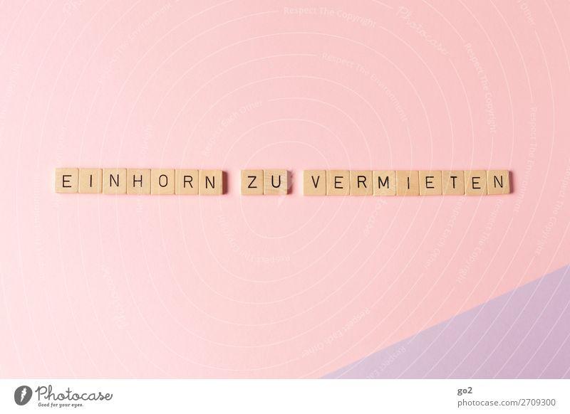 Einhorn zu vermieten Spielen Dekoration & Verzierung Schriftzeichen ästhetisch außergewöhnlich Unendlichkeit Kitsch lustig verrückt violett rosa Gefühle