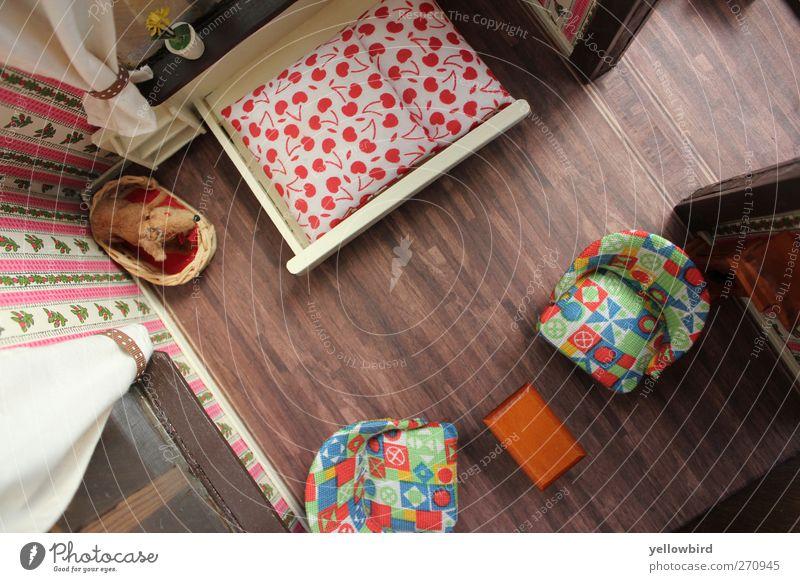 Miniwelt II Haus Innenarchitektur Raum Wohnung Design Tisch Häusliches Leben Dekoration & Verzierung Bett retro einzigartig Spielzeug Möbel Sessel Schlafzimmer
