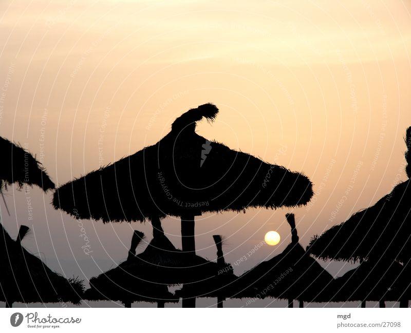 Hütchen Himmel Sonne Meer Strand Hut Abenddämmerung Wetterschutz
