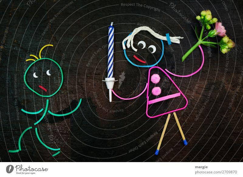 Gummiwürmer: 900 herzlichen Glückwunsch! Frau Kind Mensch Jugendliche Mann Junge Frau grün Junger Mann schwarz Erwachsene feminin braun rosa maskulin