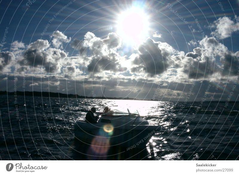 Ostseeimpression Wasser Sonne Wolken Wasserfahrzeug