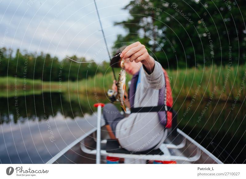 Barschalarm Mensch Natur Jugendliche Wasser Junger Mann Landschaft Tier Tierjunges Freiheit maskulin 13-18 Jahre Wildtier ästhetisch Erfolg Abenteuer Sträucher