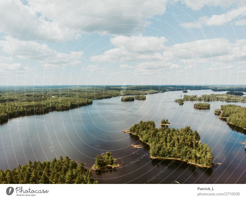 Inselmania Himmel Natur Pflanze blau schön grün Wasser Einsamkeit ruhig Wald Ferne natürlich Freiheit See wild Horizont
