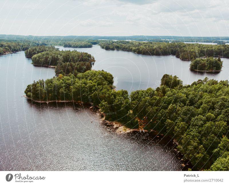 Wasserwandern Natur Sommer grün Landschaft Baum Erholung ruhig Wald Umwelt frei Kraft Idylle Insel Abenteuer groß