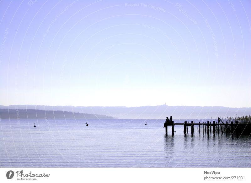 Chillen am Ammersee Freude Leben Erholung ruhig Meditation Freizeit & Hobby Ferien & Urlaub & Reisen Ferne Freiheit Vater Erwachsene Natur Luft Wasser See