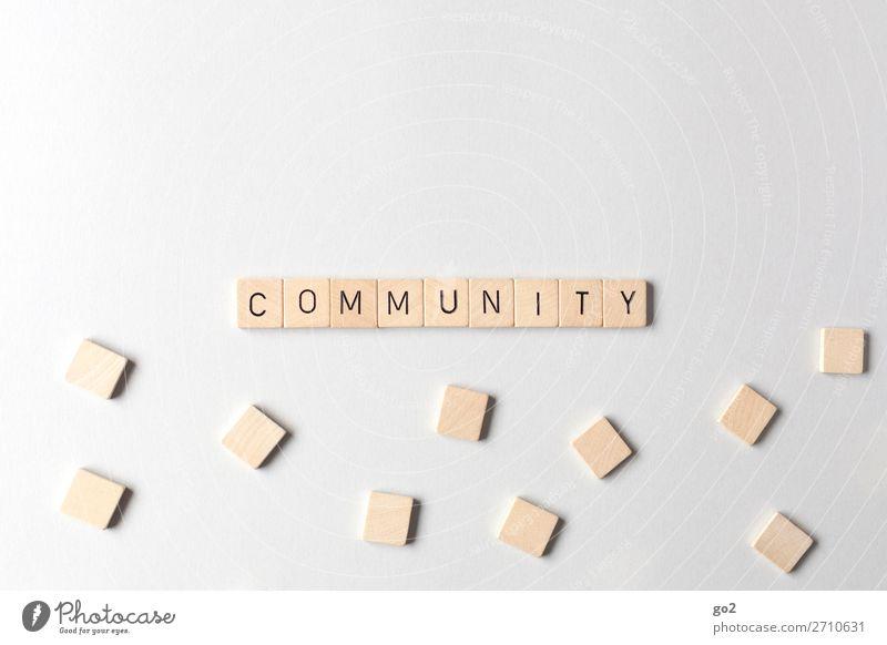 Community Medien Neue Medien Internet Holz Schriftzeichen Akzeptanz Schutz Einigkeit loyal Sympathie Freundschaft Zusammensein Mitgefühl Güte Gastfreundschaft