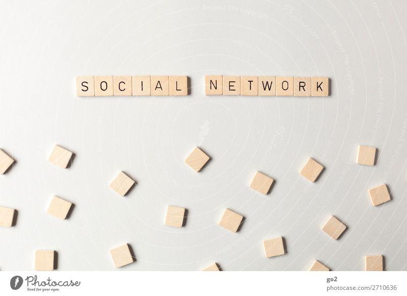 Social Network Holz sprechen Business Spielen Schule Schriftzeichen Kommunizieren Erfolg Zukunft Team Bildung Netzwerk Internet Kontakt Medien Sitzung