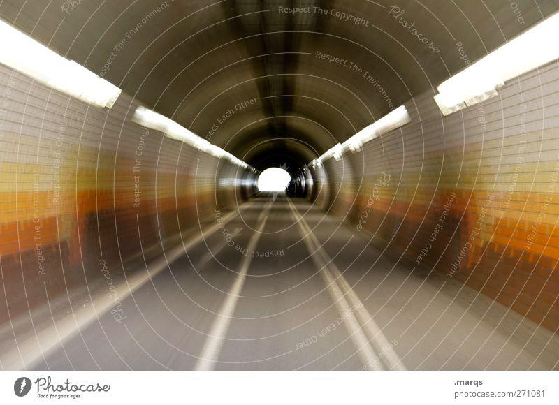 Die wilden 70er Straße Wege & Pfade Stil braun Beginn Verkehr Geschwindigkeit Perspektive Lifestyle Zukunft Coolness retro Ziel Verkehrswege Tunnel Straßenverkehr