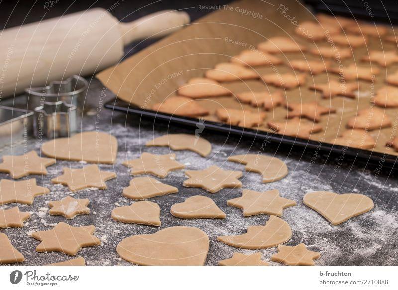 Kekse backen, Backstube Lebensmittel Teigwaren Backwaren Süßwaren Ernährung Gesunde Ernährung Koch Küche Arbeit & Erwerbstätigkeit gebrauchen frisch Bäckerei