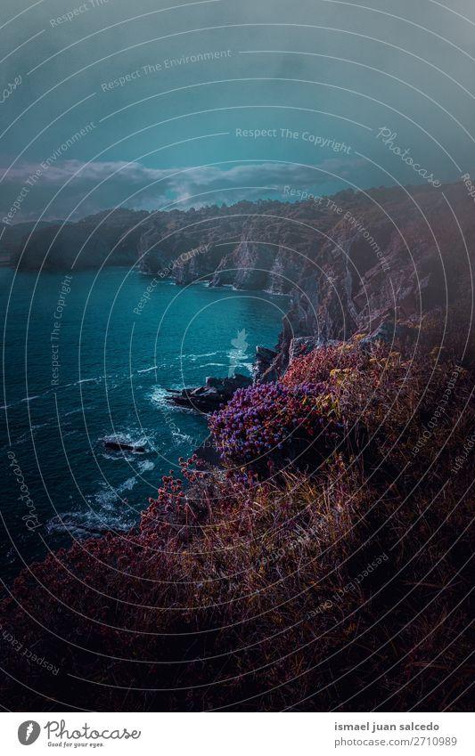 Ferien & Urlaub & Reisen Natur Landschaft Meer Erholung ruhig Strand Küste Felsen Horizont Platz Spanien Gelassenheit Tapete Klippe Ausflugsziel