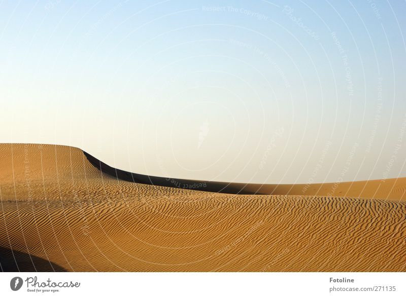 Wüste Himmel Natur blau Umwelt Landschaft Sand hell braun Erde natürlich Urelemente heiß Wolkenloser Himmel