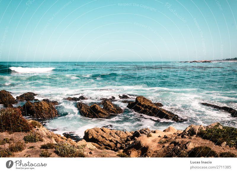 Oceanview von der Kalifornischen Küste, Vereinigte Staaten von Amerika Ferien & Urlaub & Reisen Tourismus Sommer Strand Meer Umwelt Natur Landschaft Sand Himmel