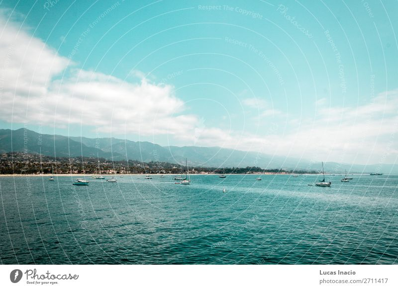 Oceanview von der Kalifornischen Küste, Vereinigte Staaten von Amerika Ferien & Urlaub & Reisen Tourismus Sommer Strand Meer Berge u. Gebirge Umwelt Natur