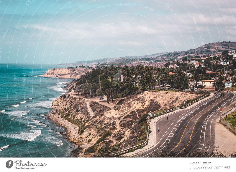 Oceanview von der Kalifornischen Küste, Vereinigte Staaten von Amerika Ferien & Urlaub & Reisen Tourismus Sommer Strand Meer Berge u. Gebirge Haus Umwelt Natur