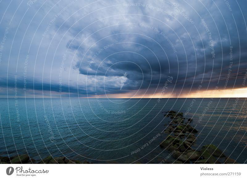 Hiddensee | rain is coming.... Himmel Natur blau Wasser Sonne Meer Wolken Landschaft Frühling Küste Insel bedrohlich Ostsee Gewitterwolken