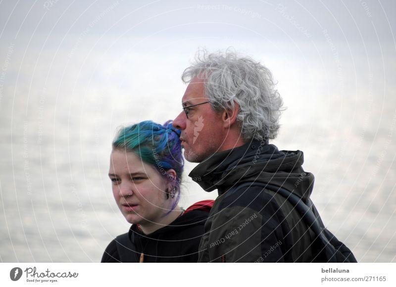 Hiddensee | Weisheit & Jugend Mensch Frau Mann Jugendliche blau Gesicht Erwachsene feminin Leben Gefühle Küste Haare & Frisuren grau Paar Freundschaft Stimmung