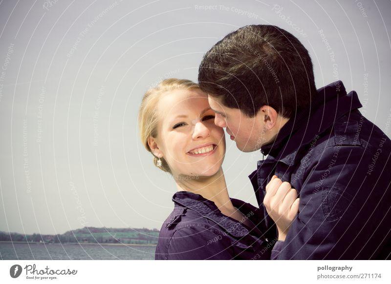 Lache, und die Welt lacht zurück! Zufriedenheit Mensch maskulin feminin Junge Frau Jugendliche Erwachsene Mann Paar Leben Mund Zähne 2 18-30 Jahre Wasser