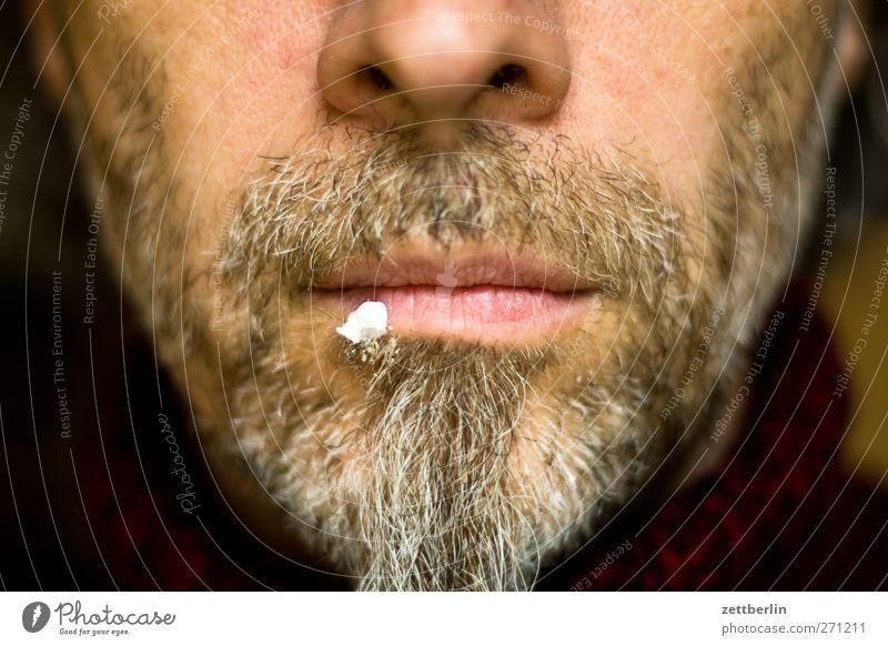 Herpes Mann Gesicht Erwachsene Gesundheit Mund maskulin Nase einzigartig Lippen 45-60 Jahre Bart Medikament Creme Behandlung