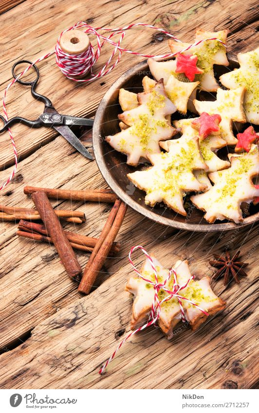 Kekse für Weihnachten Lebensmittel Feiertag Lebkuchen Dekoration & Verzierung Winter süß Dessert festlich Zimt selbstgemacht Biskuit Kuchen Zucker backen Anis