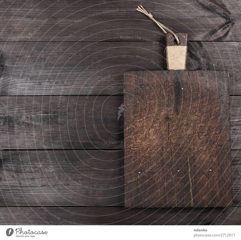 Natur alt Holz natürlich braun Design retro Tisch Küche Essen zubereiten blanko Antiquität Speisekarte