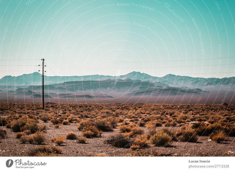 Mojave-Wüste an der Route 66 in Kalifornien Ferien & Urlaub & Reisen Tourismus Sommer Berge u. Gebirge Garten Umwelt Natur Landschaft Baum Gras Kaktus Blatt