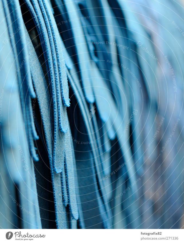 waschanlage | innenansicht blau Stoff Reinigen weich Sauberkeit zyan Autowäsche Reinheit Putztuch