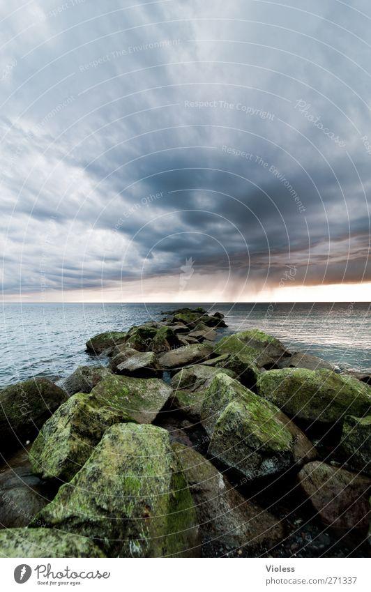 Hiddensee | the rock.... Himmel Natur Meer Wolken Landschaft Küste Stein Wetter bedrohlich Ostsee Gewitterwolken