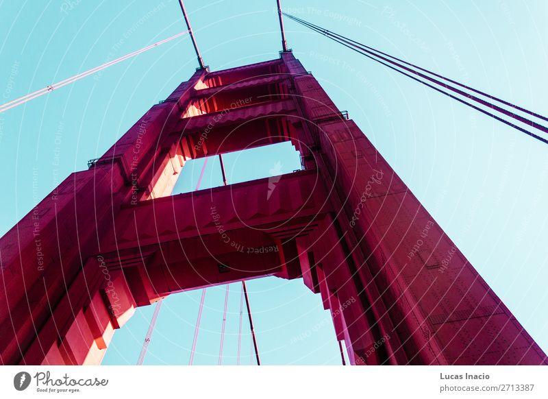 Golden Gate Bridge in San Francisco, Kalifornien, Kalifornien Ferien & Urlaub & Reisen Tourismus Sommer Strand Meer Umwelt Natur Sand Küste Brücke Gebäude