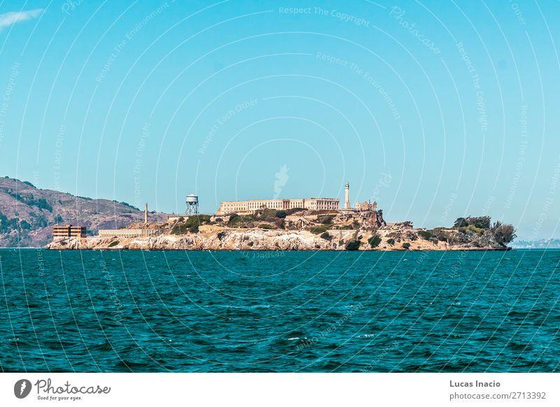 Alcatraz Gefängnis in San Francisco, Kalifornien Ferien & Urlaub & Reisen Tourismus Sommer Strand Meer Insel Umwelt Natur Sand Himmel Küste Skyline Gebäude
