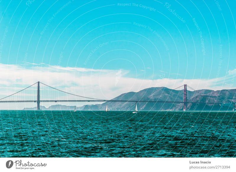 Golden Gate Bridge in San Francisco, Kalifornien, Kalifornien Ferien & Urlaub & Reisen Tourismus Sommer Strand Meer Umwelt Natur Sand Himmel Küste Skyline