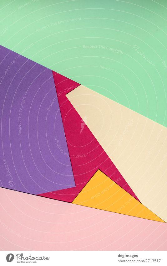 Buntes Polygonpapier-Design. Pastelltöne Tapete Kunst Papier Streifen retro blau gelb grün rosa Farbe Hintergrund geometrisch graphisch ine farbenfroh