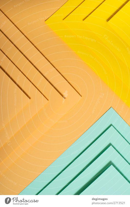Buntes Polygonpapier-Design. Pastelltöne geometrisch Tapete Kunst Papier Streifen retro blau gelb grün rosa Farbe Hintergrund graphisch ine farbenfroh