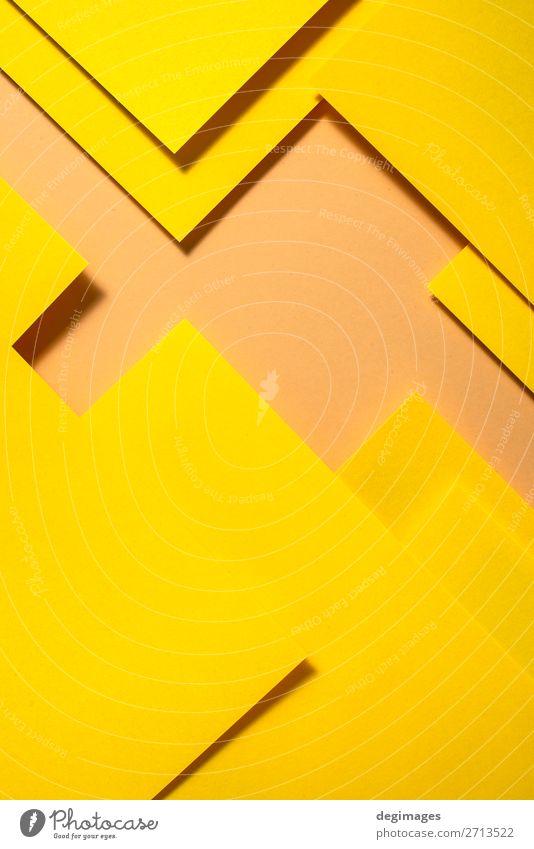 Farbe gelb Kunst Design Linie retro Papier Streifen Tapete Stillleben Handwerk Material Kurve Oberfläche minimalistisch Konsistenz