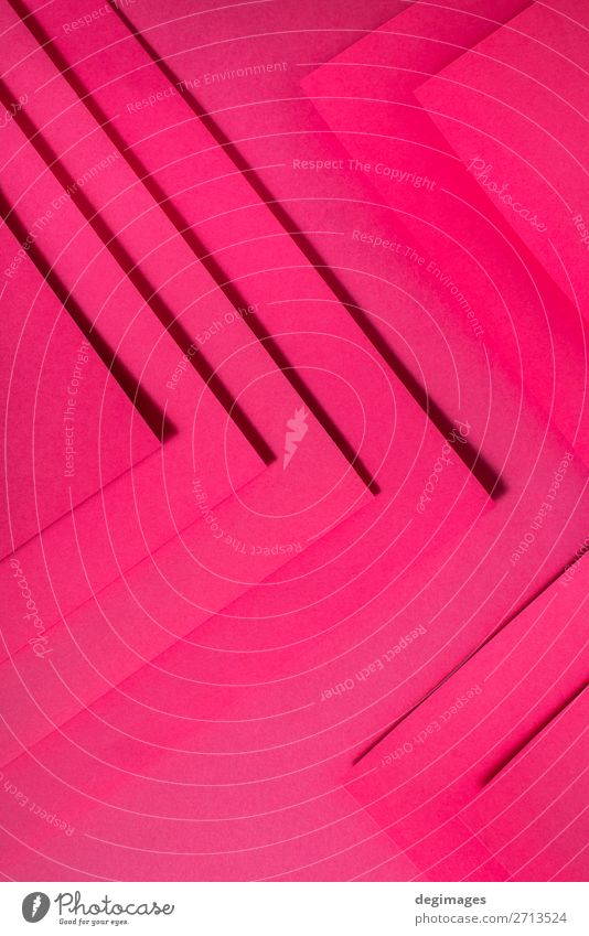 Rosa Papiermaterialdesign. Geometrische einfarbige Formen Design Tapete Handwerk Kunst Linie Streifen retro rosa Farbe geometrisch Hintergrund purpur Konsistenz