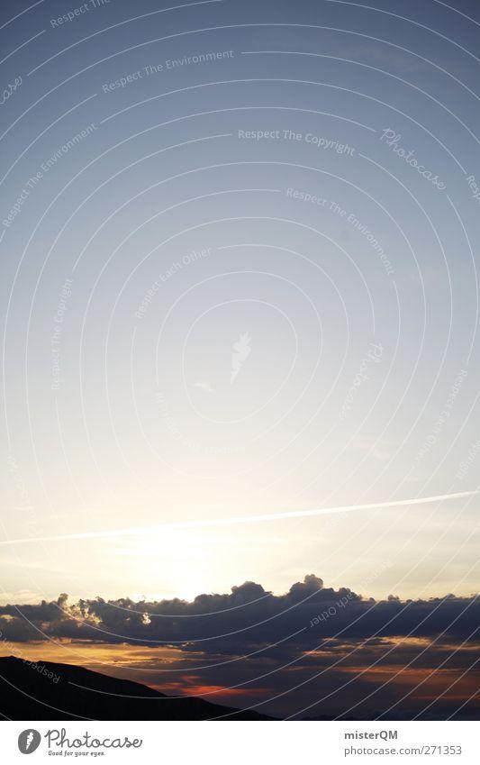 when day starts. Himmel Natur Sommer Sonne Wolken Umwelt Horizont Zufriedenheit ästhetisch Abenteuer Hoffnung Frieden himmlisch Momentaufnahme friedlich Erkenntnis