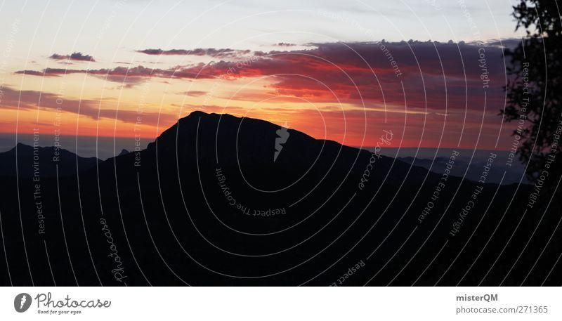 Awakening I Himmel Natur schön rot Landschaft Einsamkeit Wolken Ferne Berge u. Gebirge Umwelt Horizont Zufriedenheit Wetter wandern ästhetisch Wind