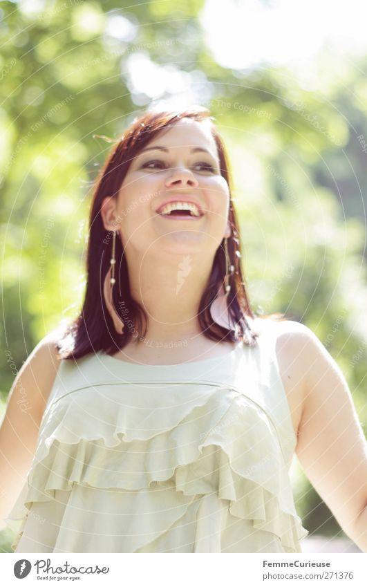 Stunning beauty II. Mensch Frau Jugendliche schön Freude Erwachsene feminin Leben Freiheit lachen Stil Junge Frau Park Zufriedenheit elegant 18-30 Jahre