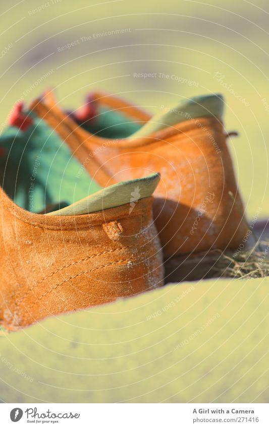 Hiddensee l these boots ... Mode Bekleidung Accessoire Schuhe orange bequem grün Sand Lederschuhe Wildleder Gedeckte Farben Außenaufnahme Nahaufnahme
