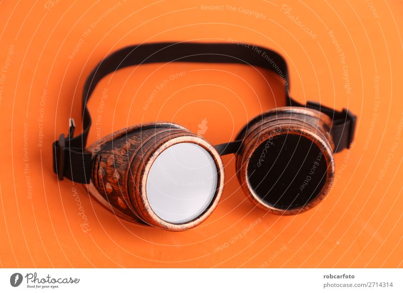 Steampunk Schweißerbrille zum Verkleiden Sonne Arbeit & Erwerbstätigkeit Hand Wege & Pfade Mode Leder Accessoire dunkel retro schwarz Sicherheit Schutz