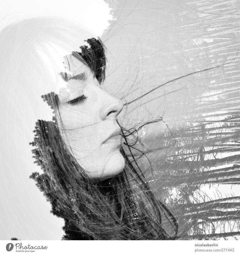Hiddensee | Then Rock On feminin Leben Haare & Frisuren Mensch Rockabilly Natur Baum schwarzhaarig Traurigkeit außergewöhnlich dunkel fantastisch Unendlichkeit