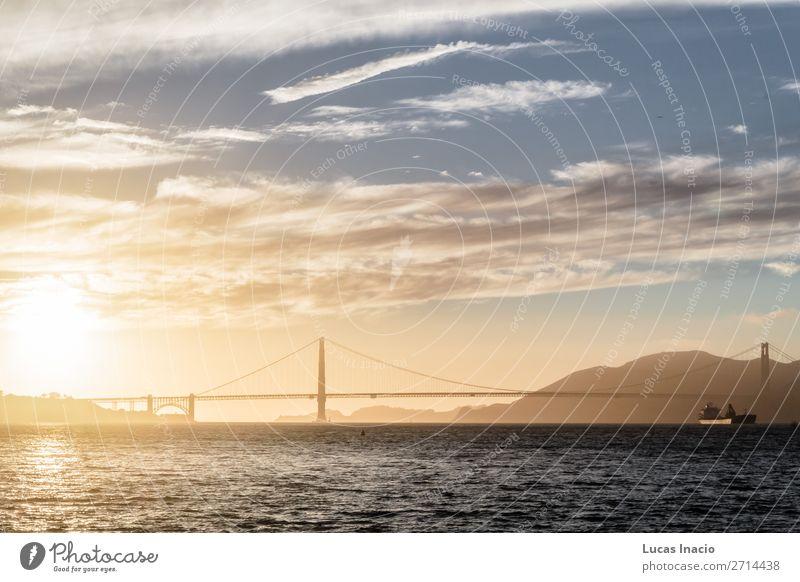 Golden Gate Bridge in San Francisco, Kalifornien, Kalifornien Ferien & Urlaub & Reisen Tourismus Sommer Strand Meer Umwelt Natur Sand Himmel Wolken Küste
