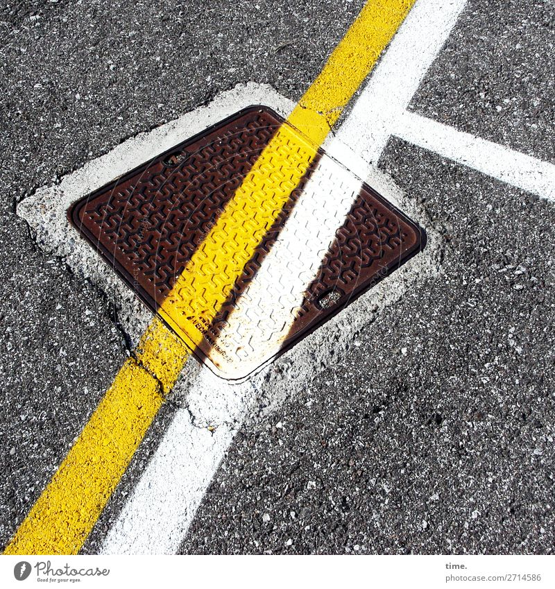 street art | on the road again Stadt Straße Farbstoff Wege & Pfade Kunst Design Linie Kreativität Perspektive Baustelle entdecken Information planen Schutz