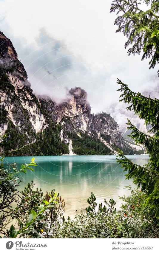 Schlechtes Wetter am Lago di Braies/Pragser Wildsee Ferien & Urlaub & Reisen Natur Sommer Pflanze Landschaft Baum Tier Ferne Berge u. Gebirge Umwelt Tourismus