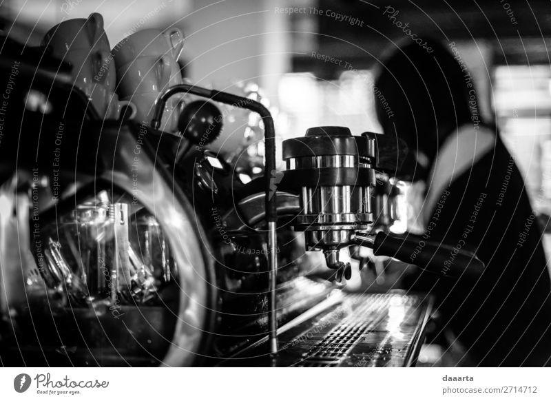morgens Kaffeemuse Getränk Heißgetränk Espresso Becher Kaffeemaschine Café Kantine Lifestyle elegant Stil Design Freude Leben harmonisch Freizeit & Hobby
