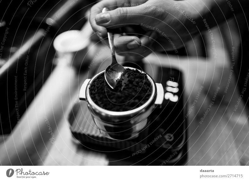 Kaffeegewicht II Getränk Heißgetränk Espresso Löffel Gewicht Lifestyle elegant Stil Design Freude Freizeit & Hobby Abenteuer Freiheit Häusliches Leben Tisch